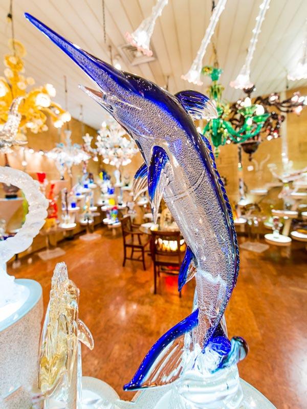 Venezia - Vetreria Artistica Colleoni - Dettaglio Pesce Spada in Vetro