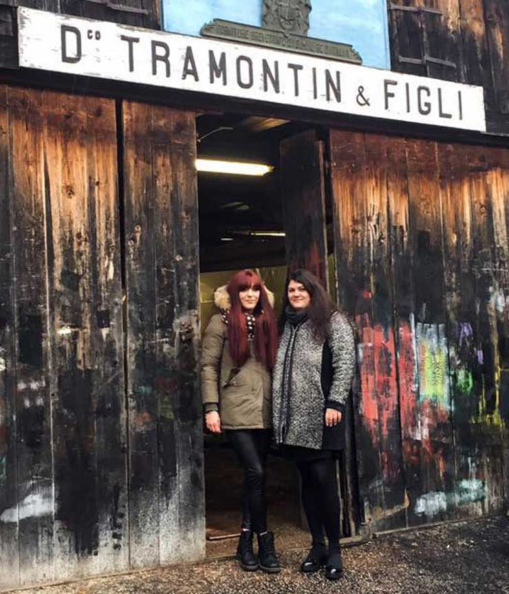 Venezia - Squero Tramontin - Le sorelle Tramontin
